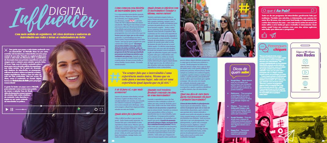 Entrevista para a Revista EI! como Embaixadora BELTA